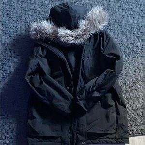 H&M winter coat with fur on hood
